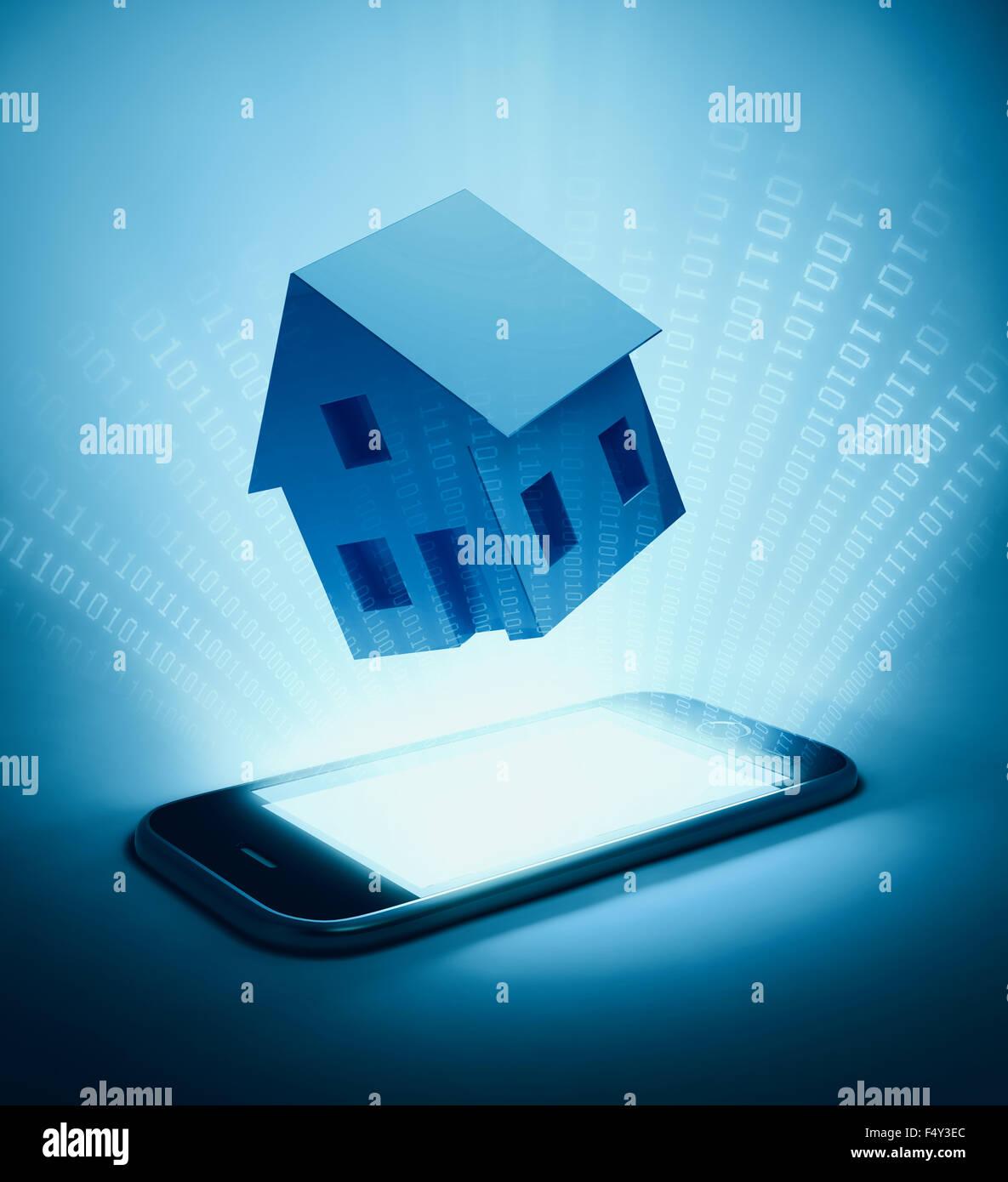 Automatización del hogar - Casa Inteligente concepto de fondo Imagen De Stock