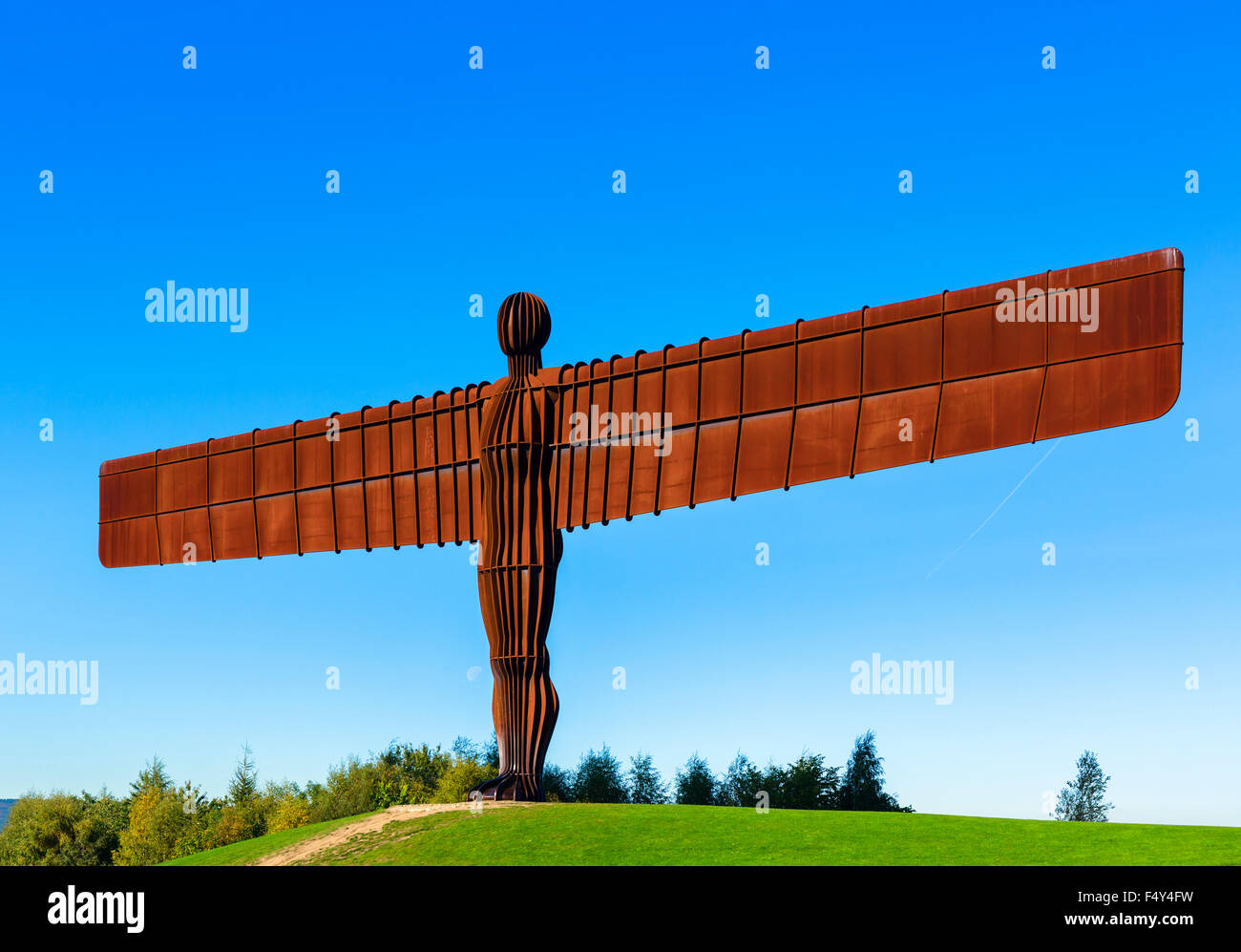 El Ángel del Norte escultura de Antony Gormley, Gateshead, Tyne y desgaste, al Noreste de Inglaterra, Reino Imagen De Stock
