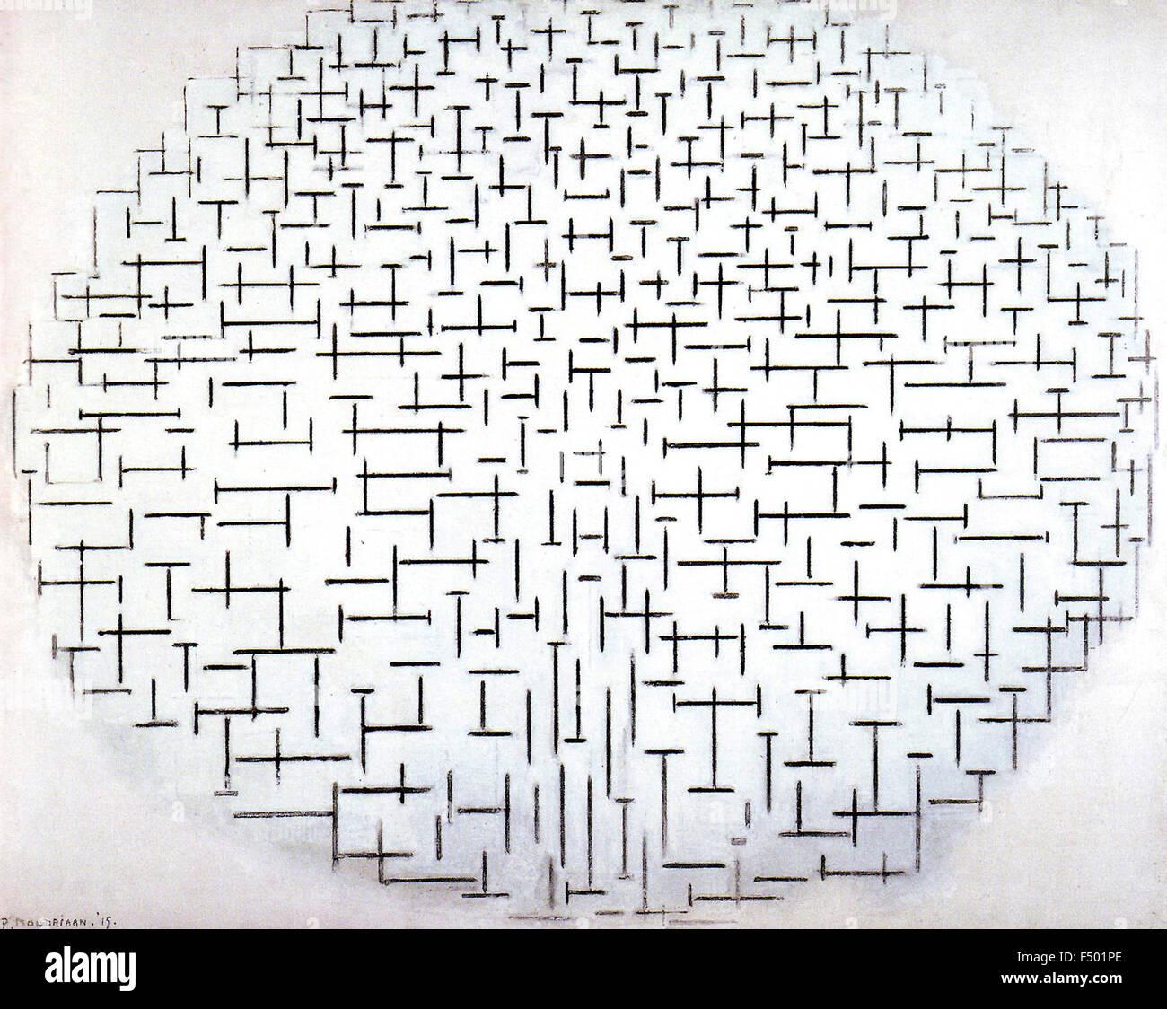 Pietr Mondrian - composición en blanco y negro Imagen De Stock