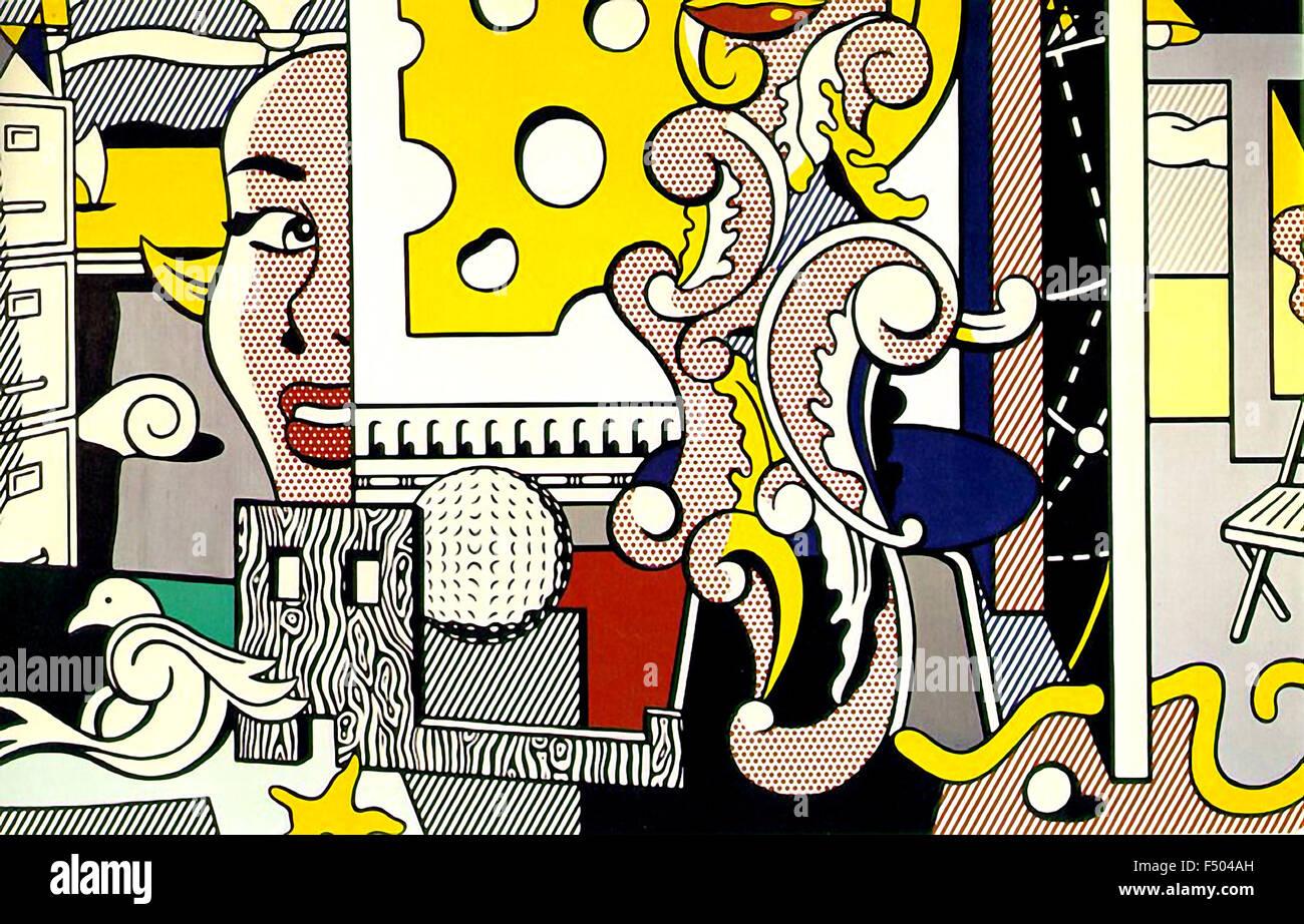 Roy Lichtenstein - Go for Baroque Foto de stock