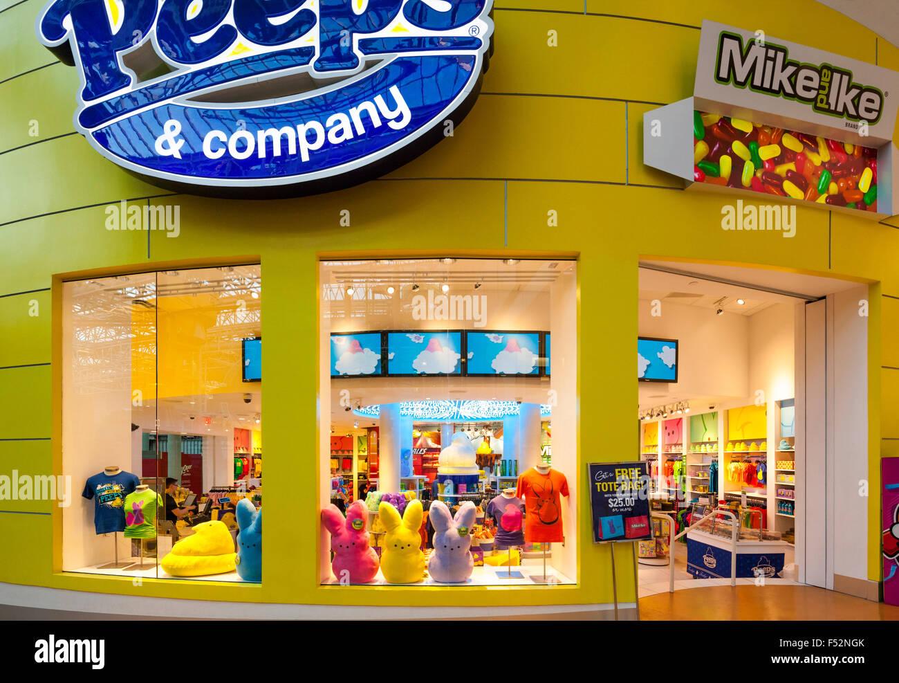 Asoma la tienda de dulces en el interior del centro comercial Mall of America en Minneapolis. Asoma & Company Imagen De Stock
