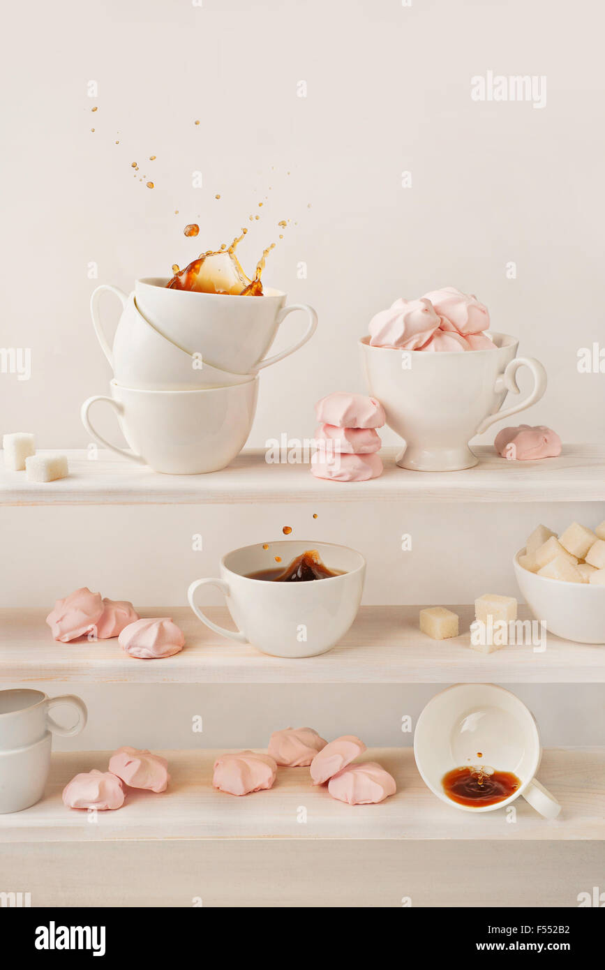 Colección splash café Imagen De Stock