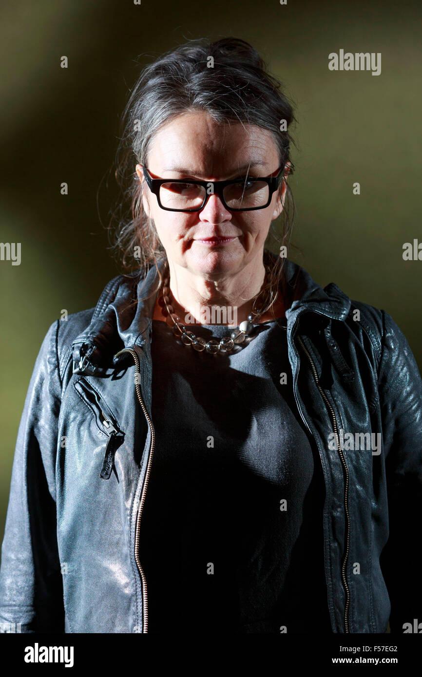 Julia Crouch. Festival Internacional del Libro de Edimburgo 2014 fotos tomadas en Charlotte Square Gardens. Edimburgo. Imagen De Stock