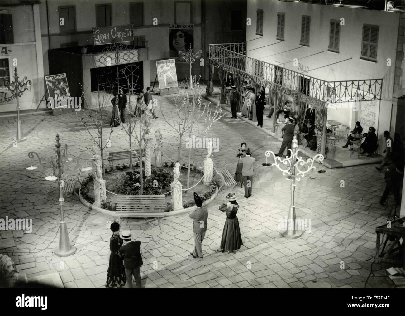 Escena de una película italiana 60s Imagen De Stock