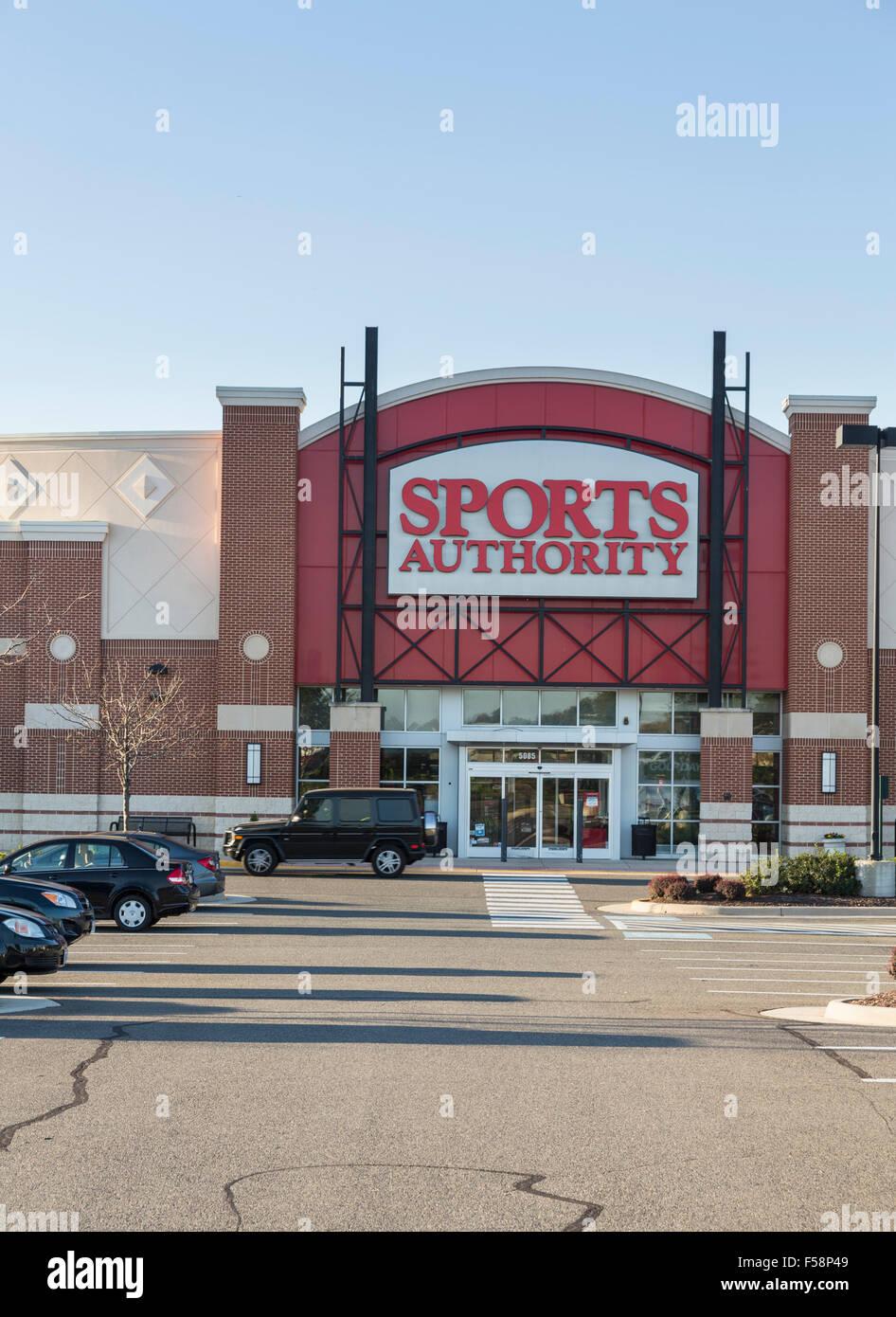 Sports Authority almacenar / superstore en Virginia centro comercial Gateway, Gainesville, Virginia, EE.UU. Imagen De Stock