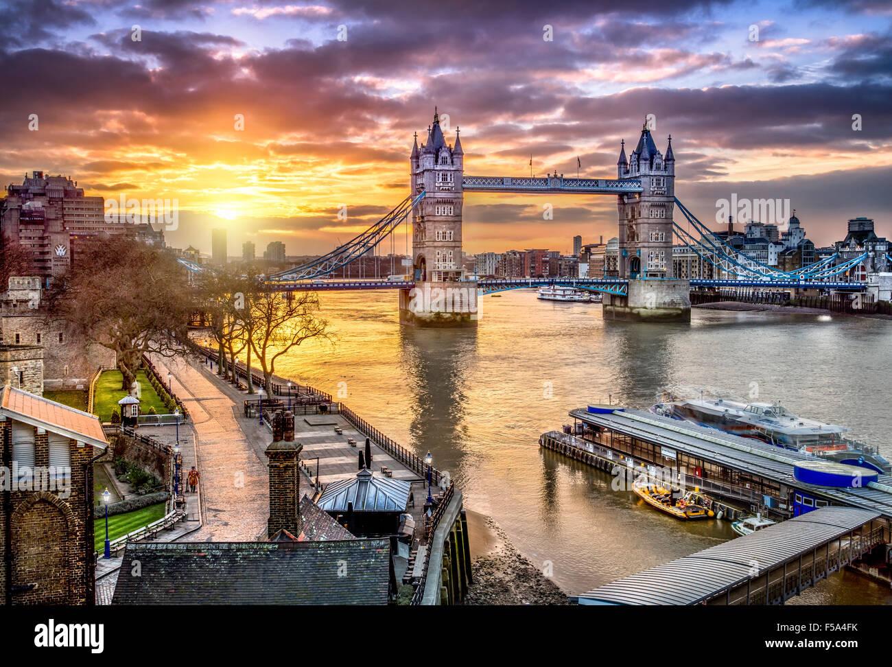 Skyline de Londres Imagen De Stock