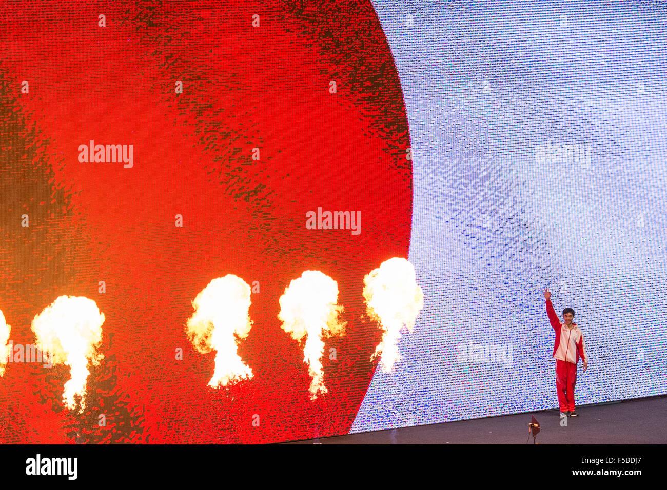 Glasgow, Gran Bretaña. 31 Oct, 2015. Kenzo Shirai (JPN) Gimnasia Artística : Kenzo Shirai de Japón Imagen De Stock