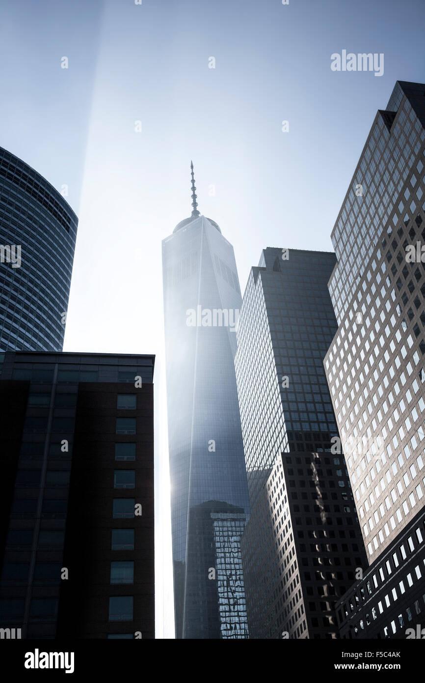 El One World Trade Center, el World Financial Center, Nueva York, EE.UU. Imagen De Stock