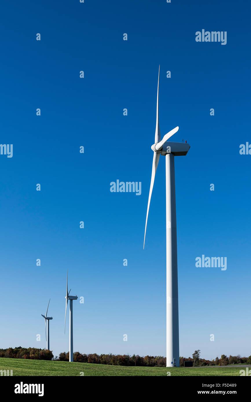Parque eólico, Canastota, Nueva York, EE.UU. Imagen De Stock