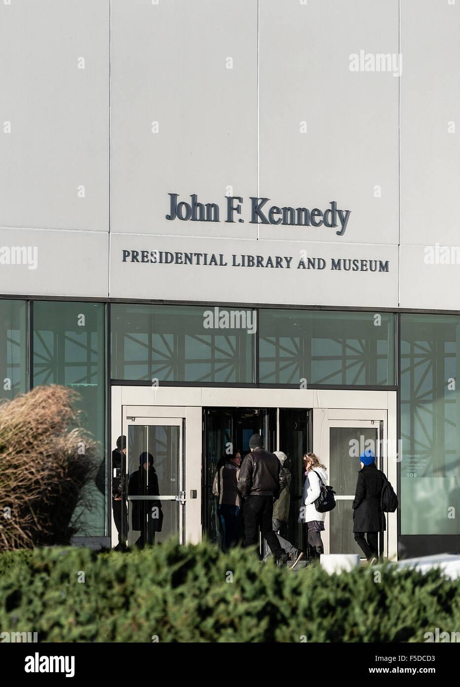 John F. Kennedy Presidential Library and Museum, Boston, Massachusetts, EE.UU. Imagen De Stock