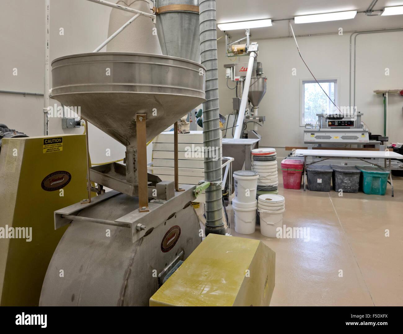 FlBarley sala de molienda de harina de Alaska, empresa. Imagen De Stock