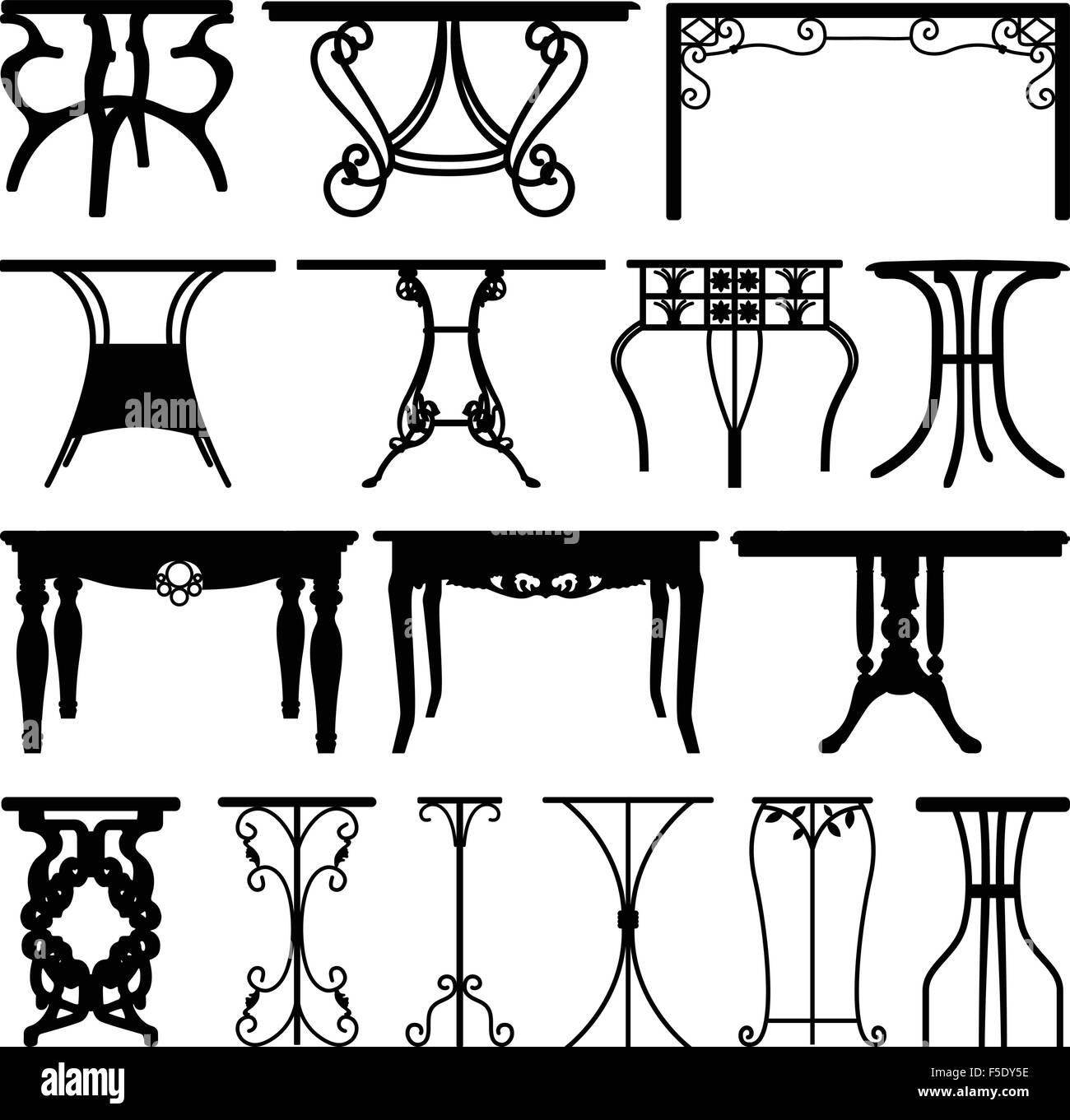 Tabla Desk Home Muebles de diseño Ilustración del Vector