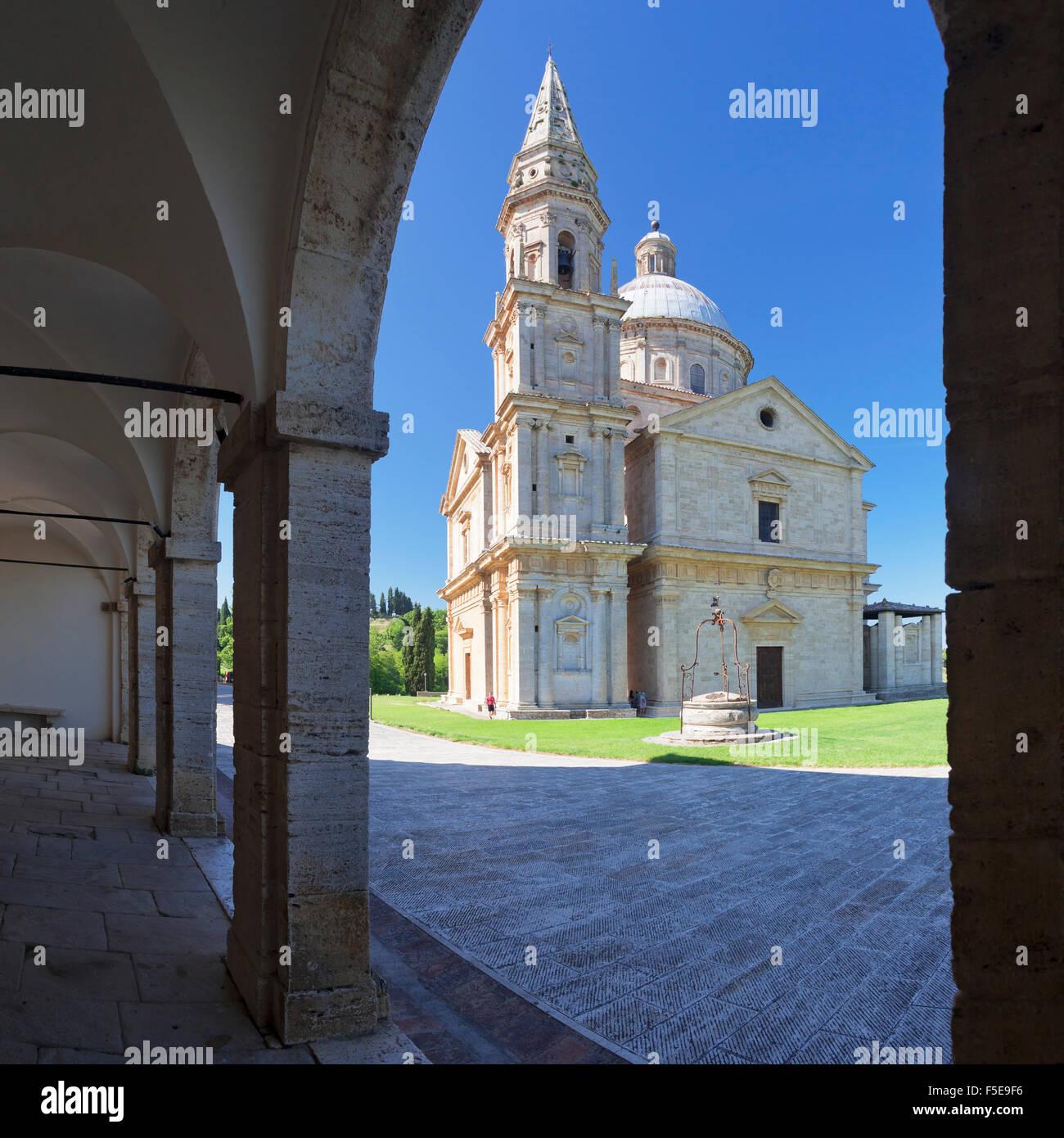 Iglesia de San Biagio, Montepulciano, provincia de Siena, Toscana, Italia, Europa Imagen De Stock