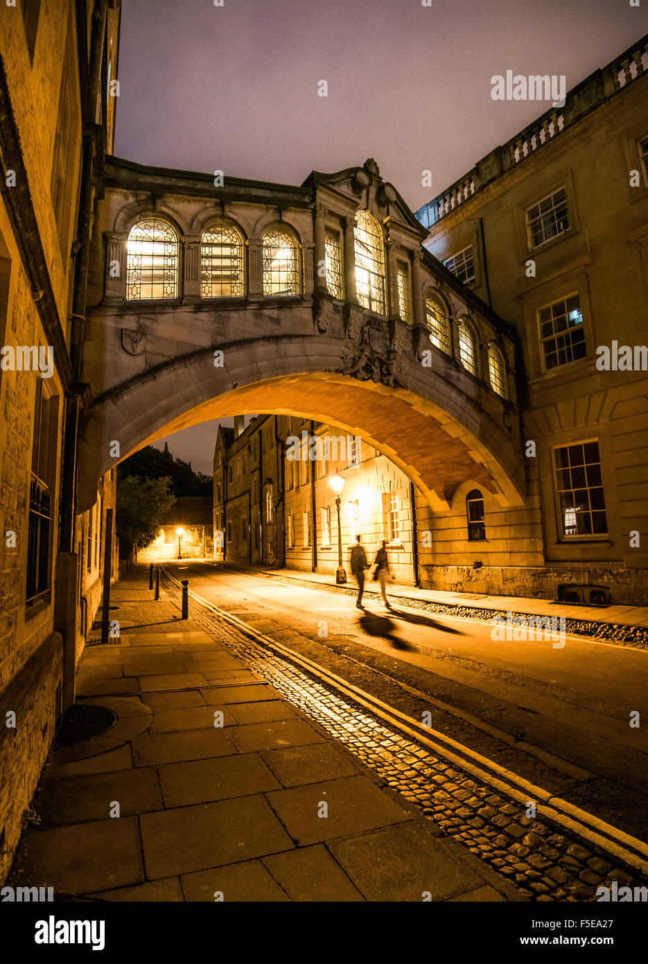 Puente de los Suspiros, Oxford, Oxford, Inglaterra, Reino Unido, Europa Imagen De Stock