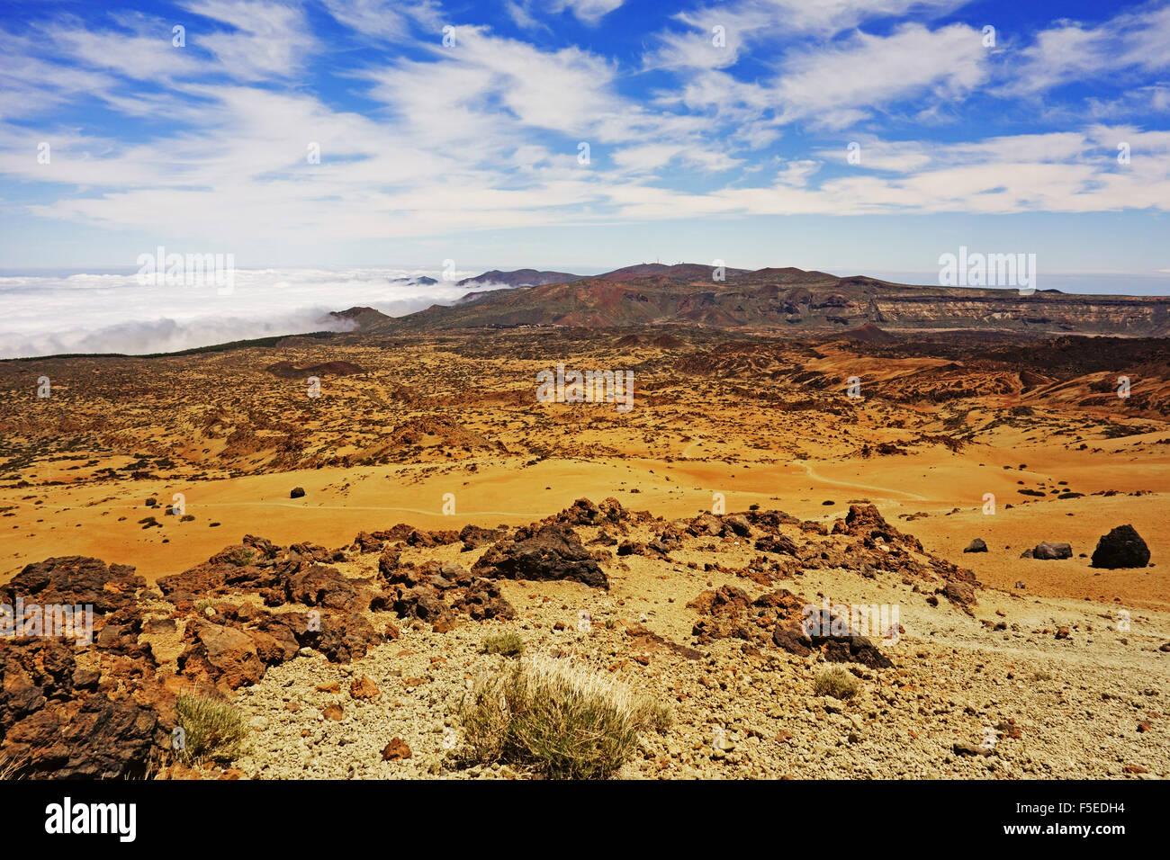 Las Canadas, Parque Nacional del Teide, Tenerife, Islas Canarias, Atlántico, Europa Imagen De Stock