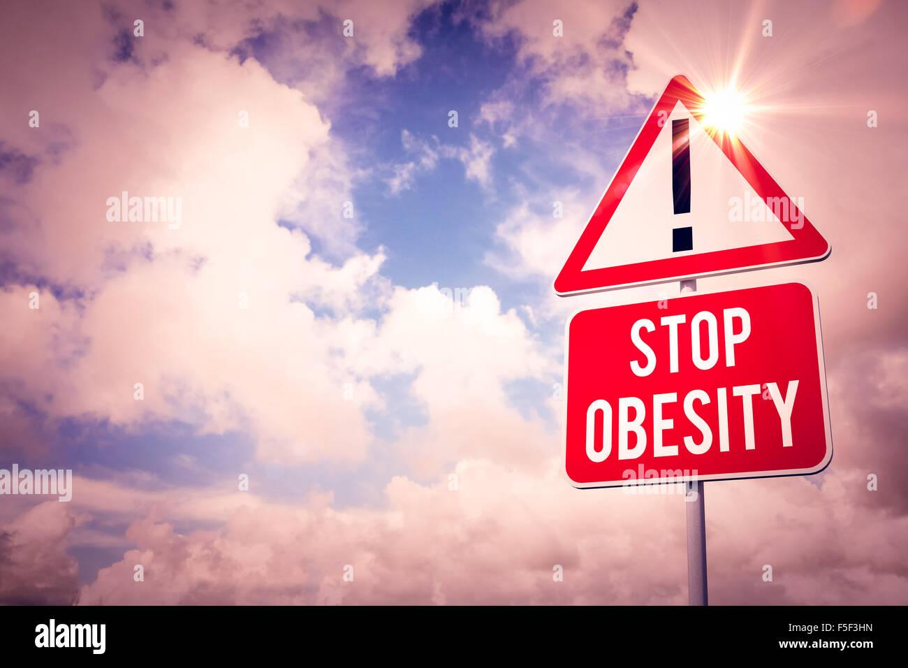 Imagen compuesta de detener la obesidad Imagen De Stock
