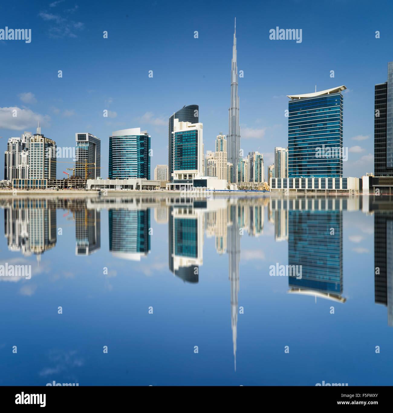 Horizonte de Dubai, Emiratos Árabes Unidos Imagen De Stock