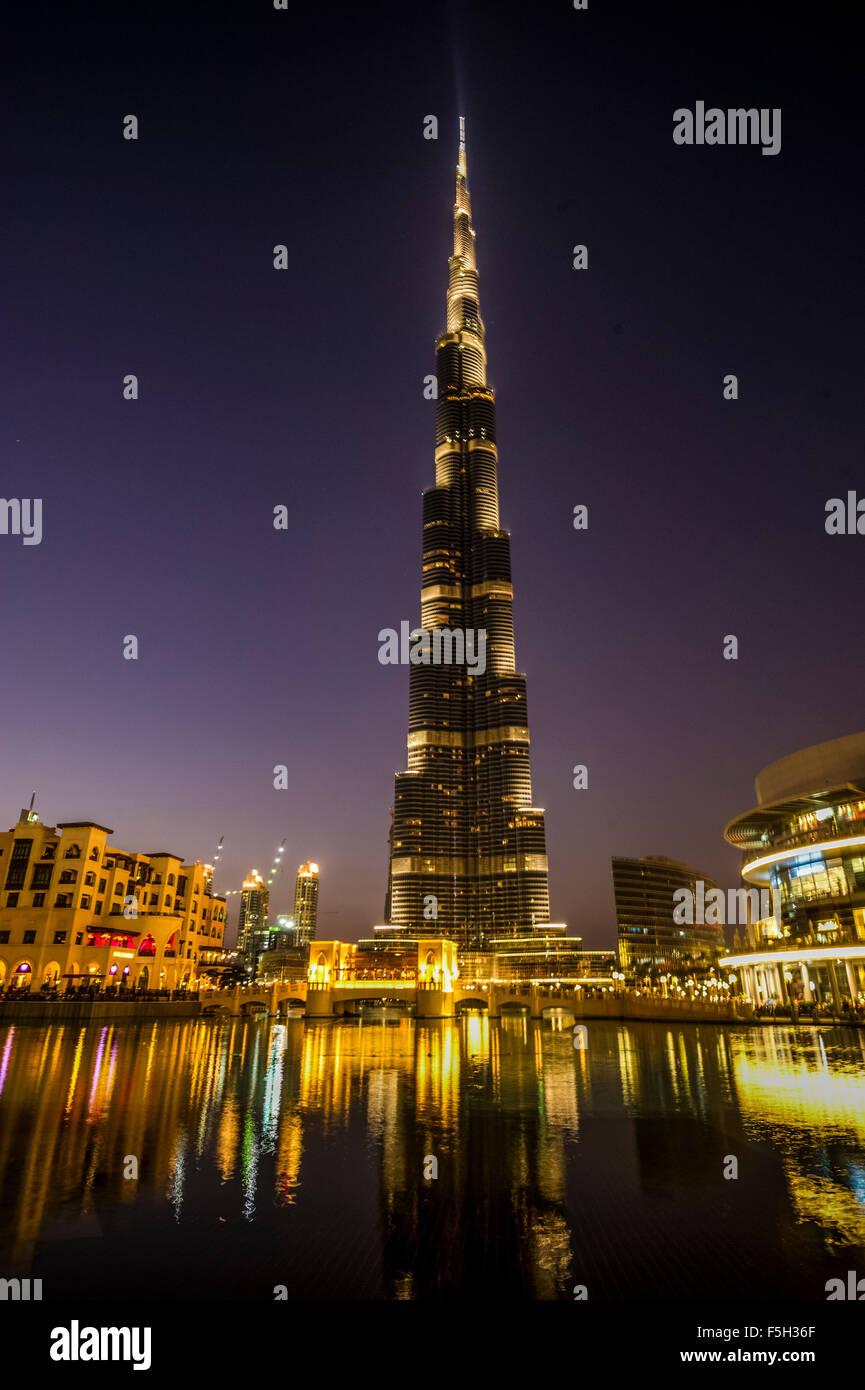 Dubai,el Burj Al Khalifa Tower Foto de stock