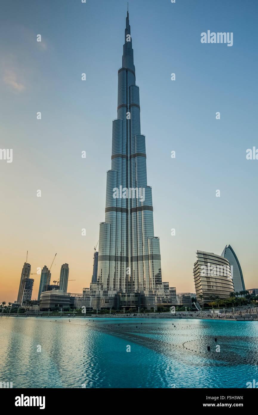 Dubai,el Burj Al Khalifa Tower Imagen De Stock