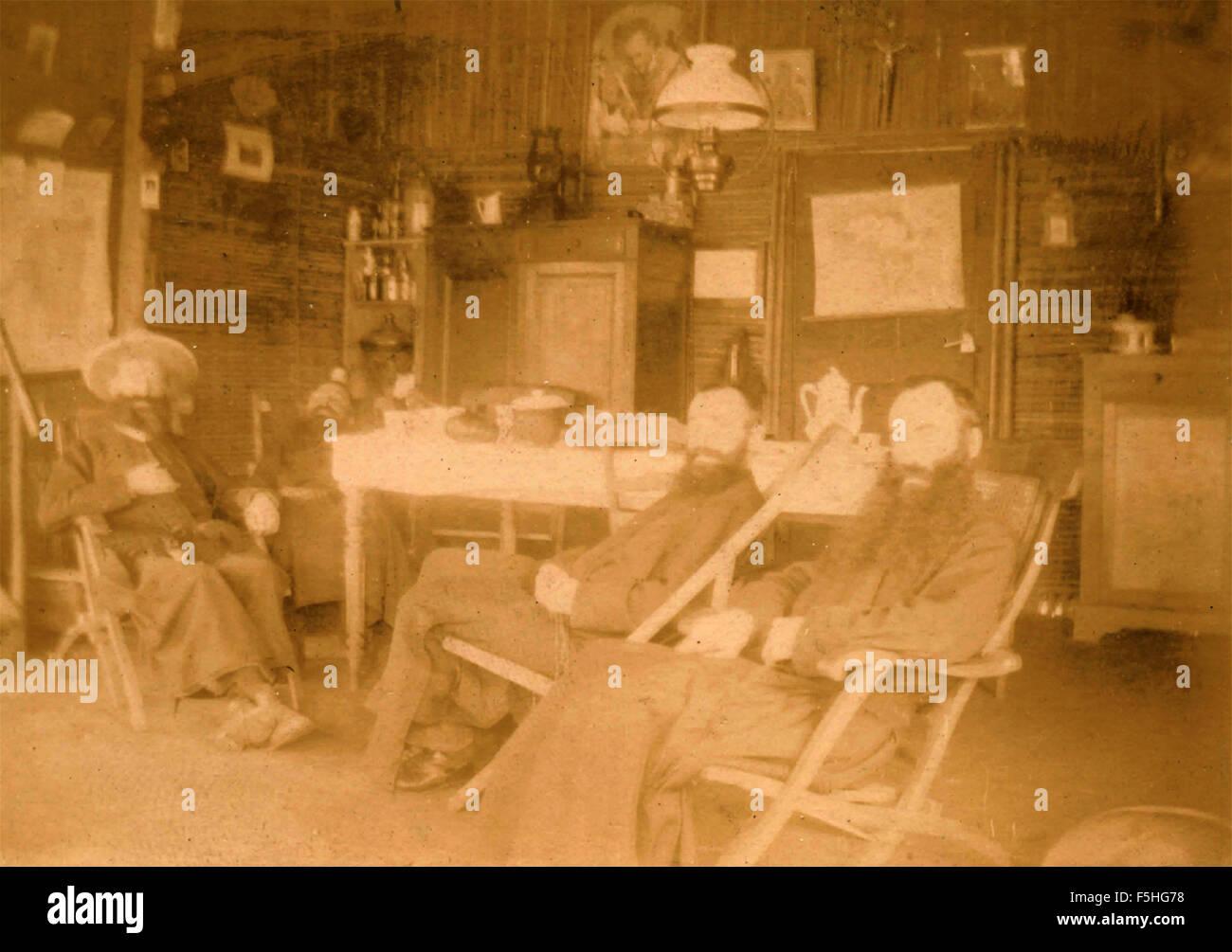 Tres barbudos en la casa (Amish)? Foto de stock