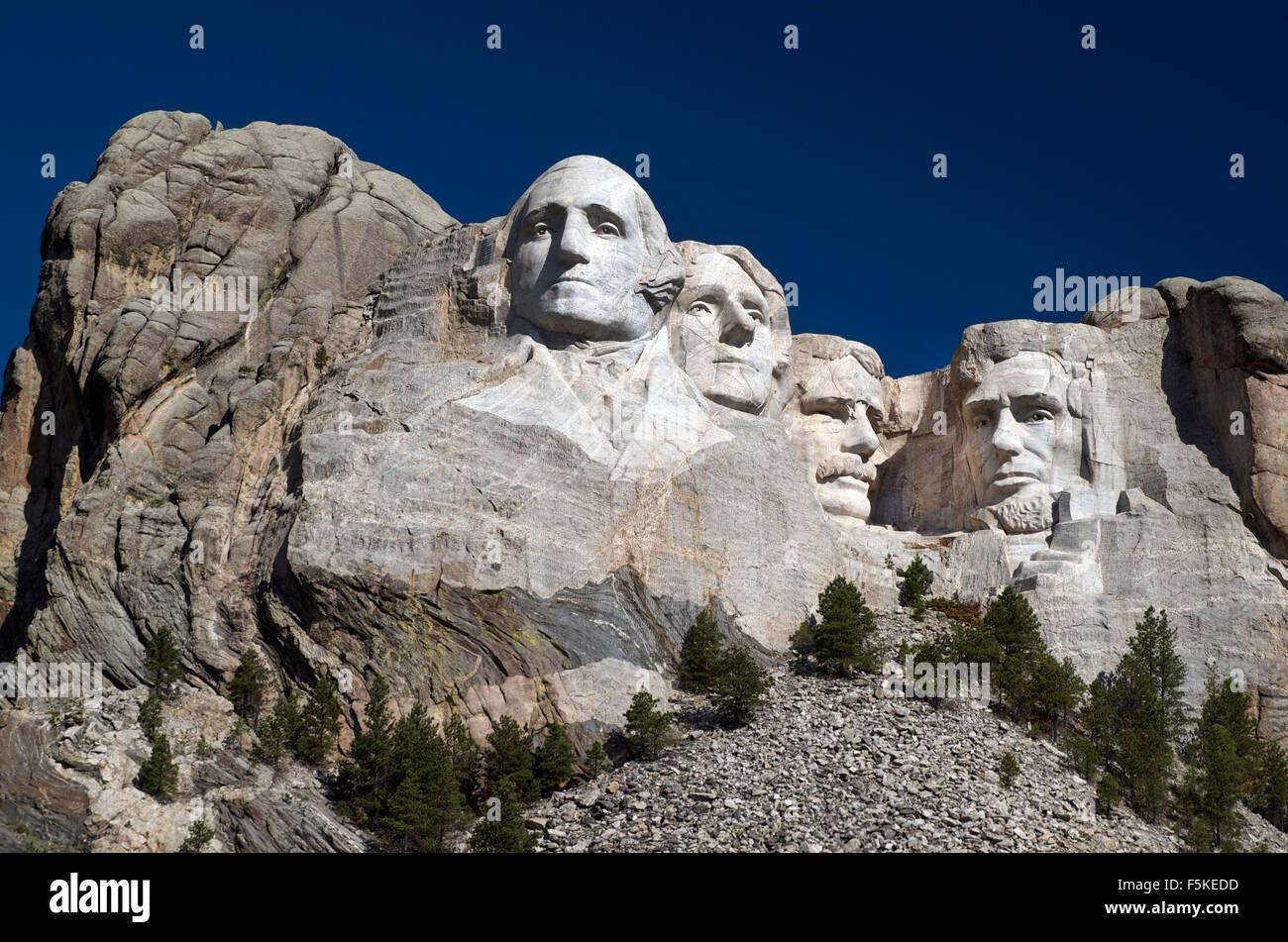 Monte Rushmore Memorial Nacional de EE.UU., el National Park Service Imagen De Stock