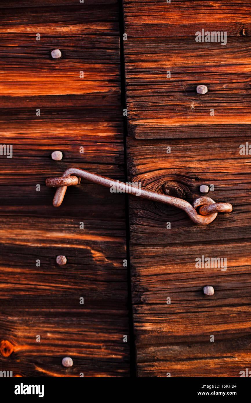 Suecia, Dalarna, cierre de gancho metálico. Imagen De Stock