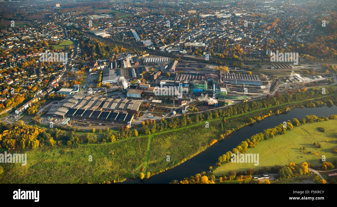 Muttental, cuna de la cuenca del Ruhr la minería, LWL El Museo Industrial Zeche Witten-Bommern Nachtigall, Imagen De Stock