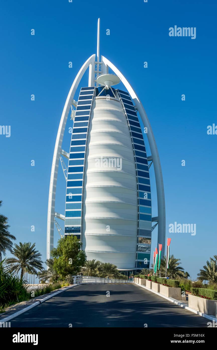 Dubai. Torre Burj Al Arab Foto de stock