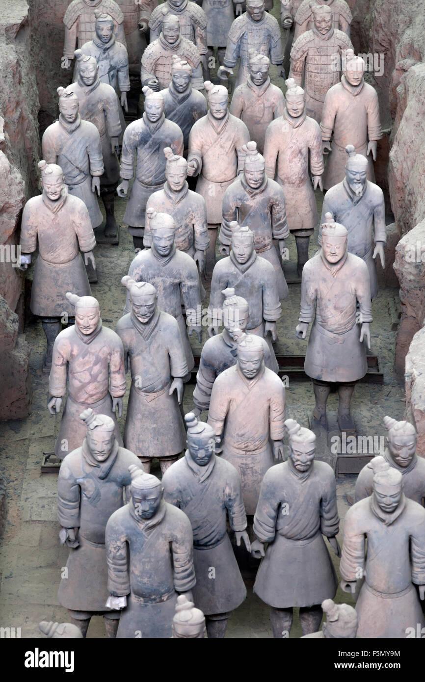 Guerreros de terracota en Xian, China Imagen De Stock