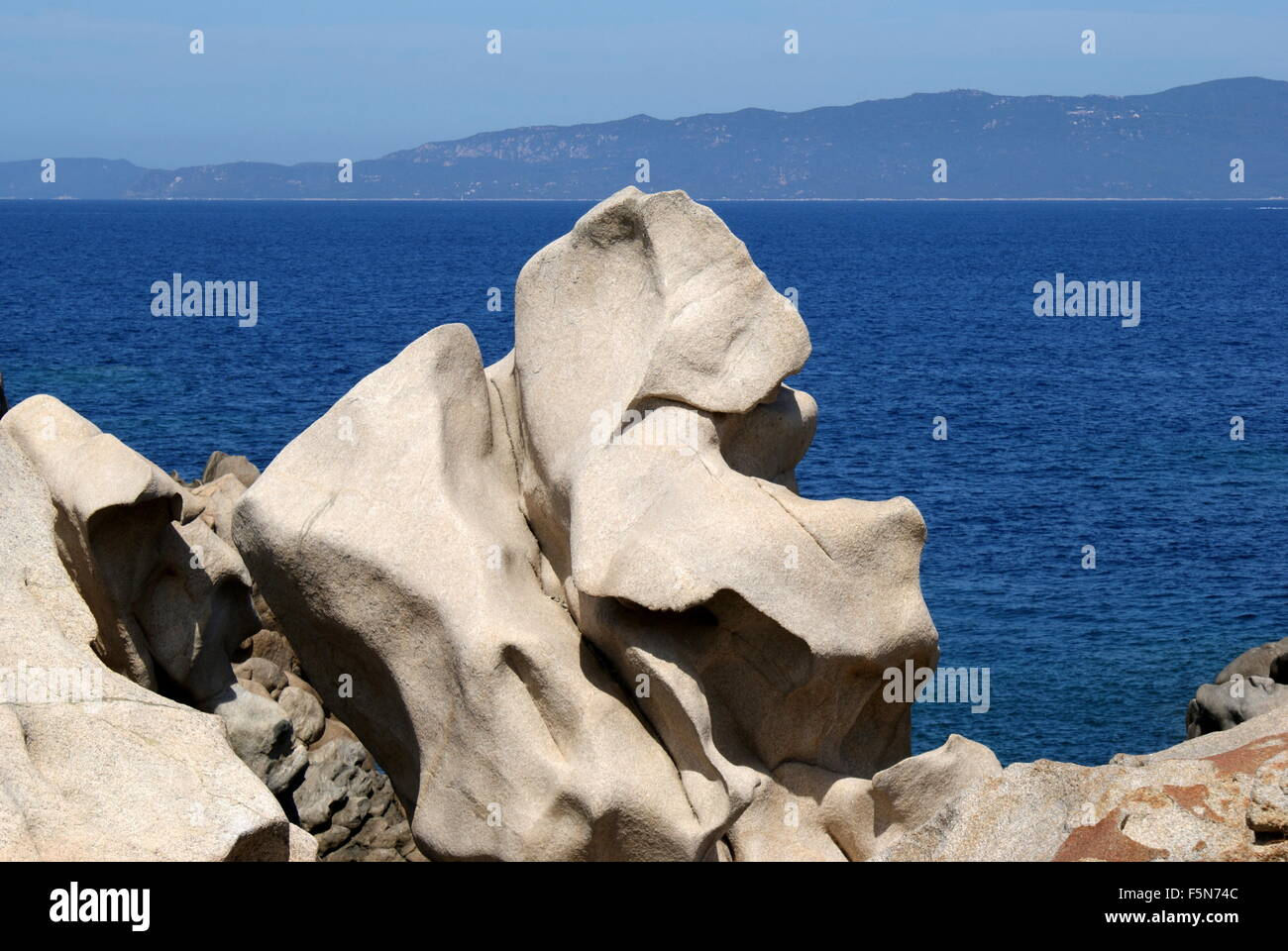 Formaciones rocosas, Campomoro, Córcega, Francia Foto de stock