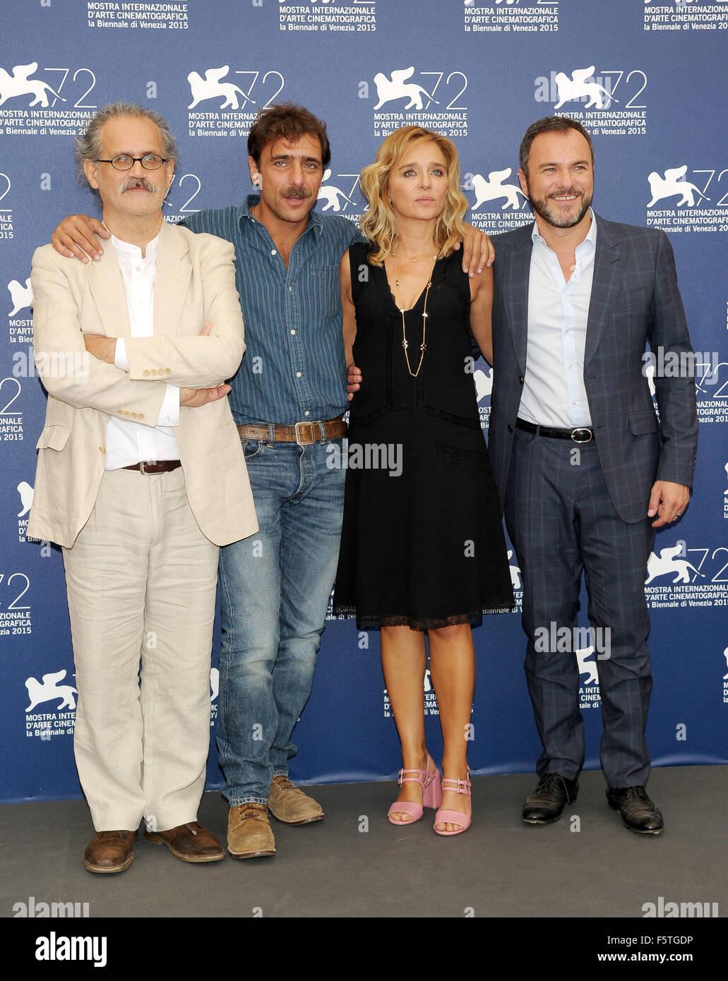 "72º Festival de Cine de Venecia - ""Por Amor"" - Vostro Photocall Featuring: Giuseppe Gaudino, Adriano Imagen De Stock"