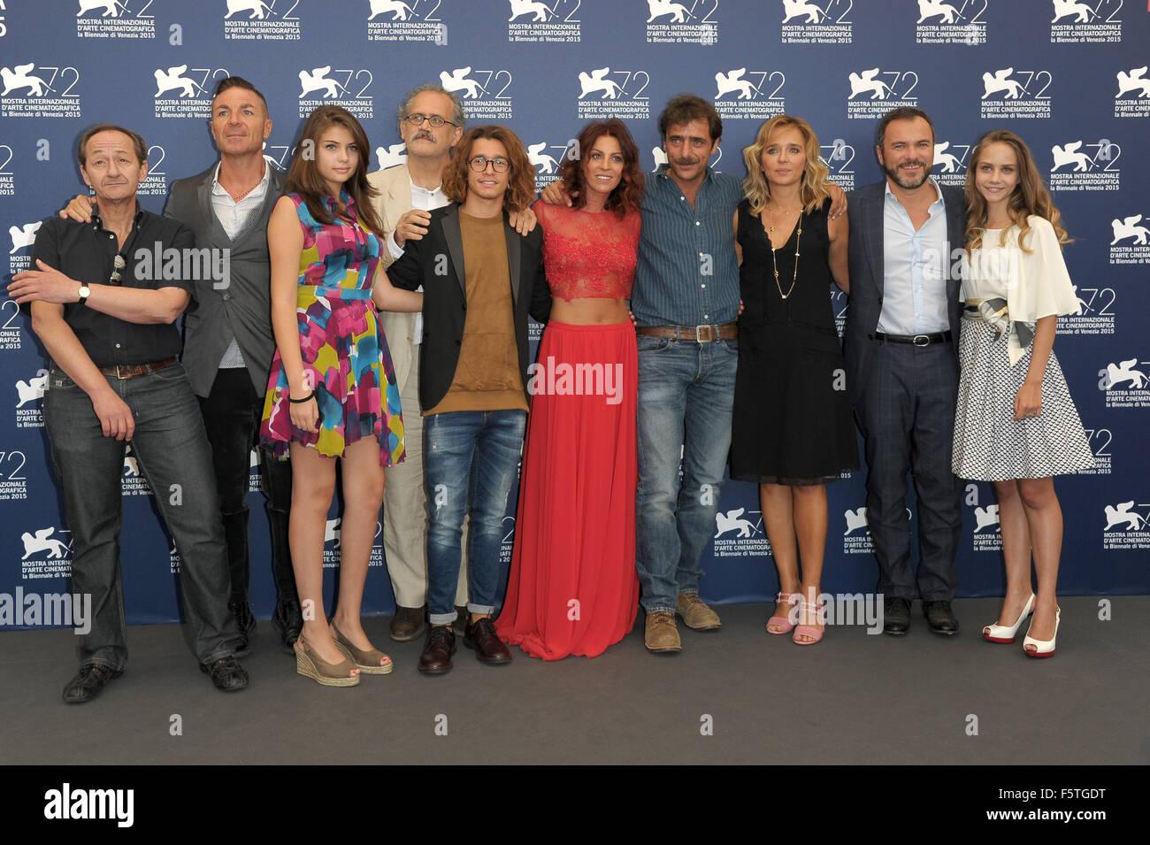"""72º Festival de Cine de Venecia - """"Por Amor"""" - Vostro Photocall Featuring: Giuseppe Gaudino, Valeria Imagen De Stock"""