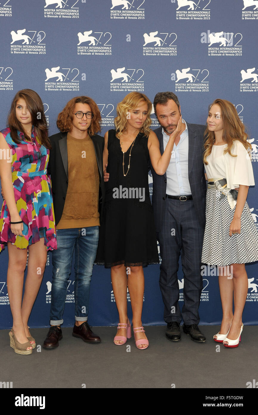 "72º Festival de Cine de Venecia - ""Por Amor"" - Vostro Photocall con: Valeria Golino, Massimiliano Imagen De Stock"