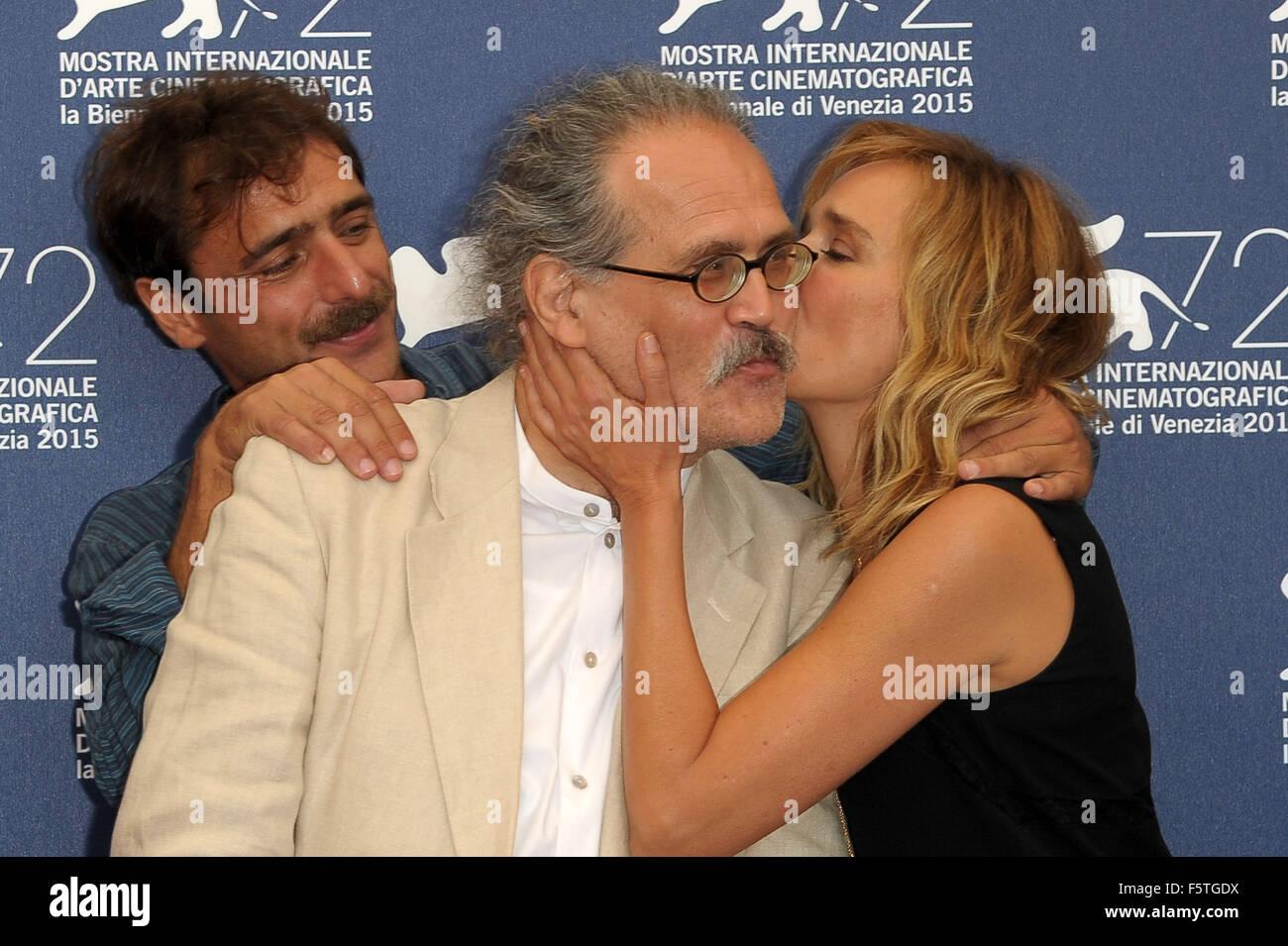 "72º Festival de Cine de Venecia - ""Por Amor"" - Vostro Photocall con: Valeria Golino, Adriano Giannini, Imagen De Stock"