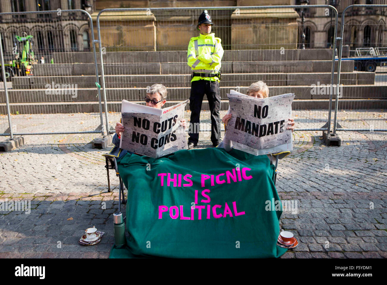 Manchester anti-protesta de austeridad Imagen De Stock