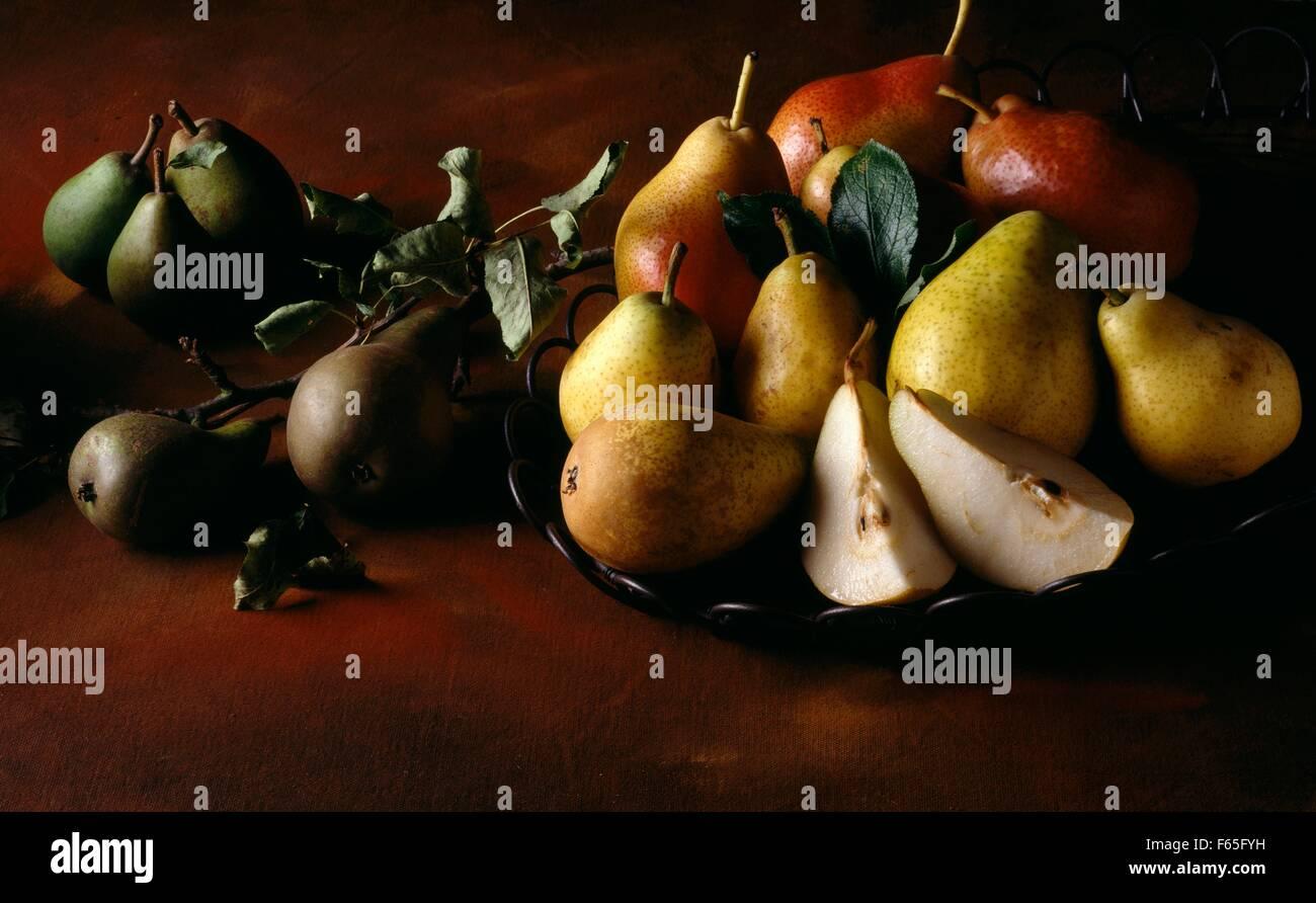 Variedad de peras Foto de stock
