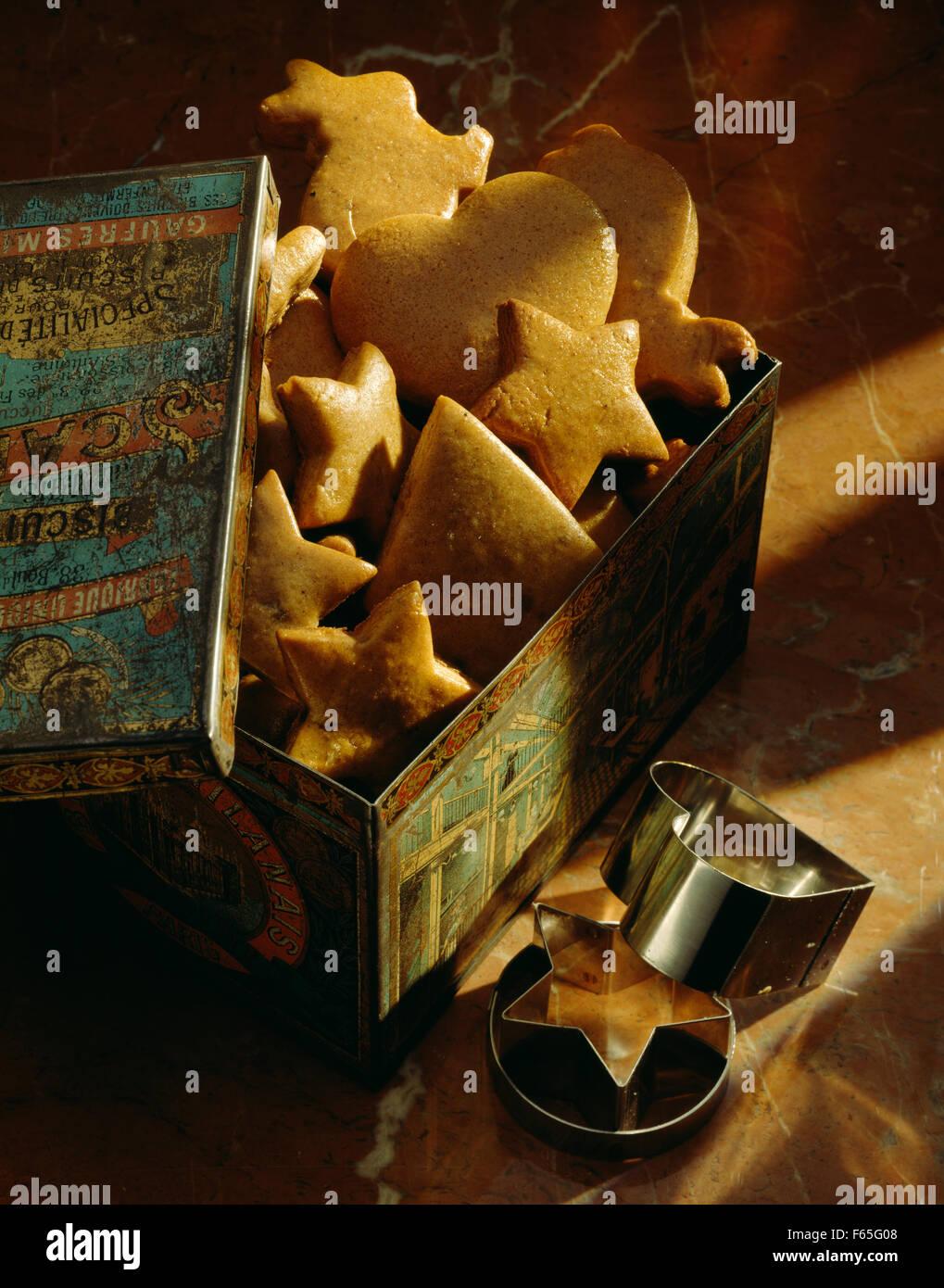 Shortbread galletas de Navidad Foto de stock