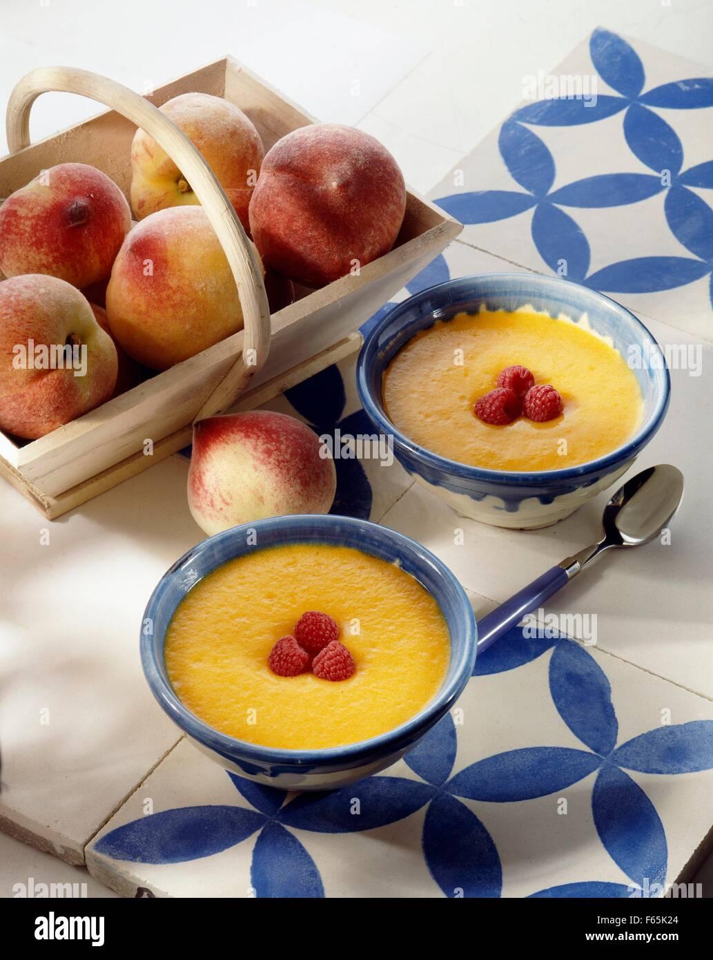 mousse de melocotón Foto de stock