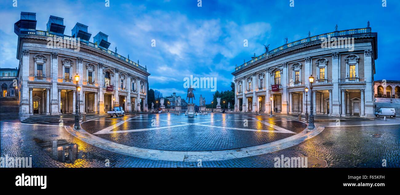 Plaza del Campidoglio (Roma) Imagen De Stock