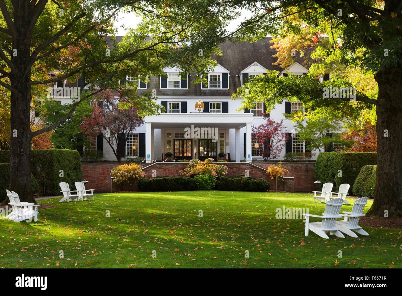 El Luxury Inn Resort, Woodstock Woodstock, Vermont VT , Nueva Inglaterra, EE.UU. Imagen De Stock