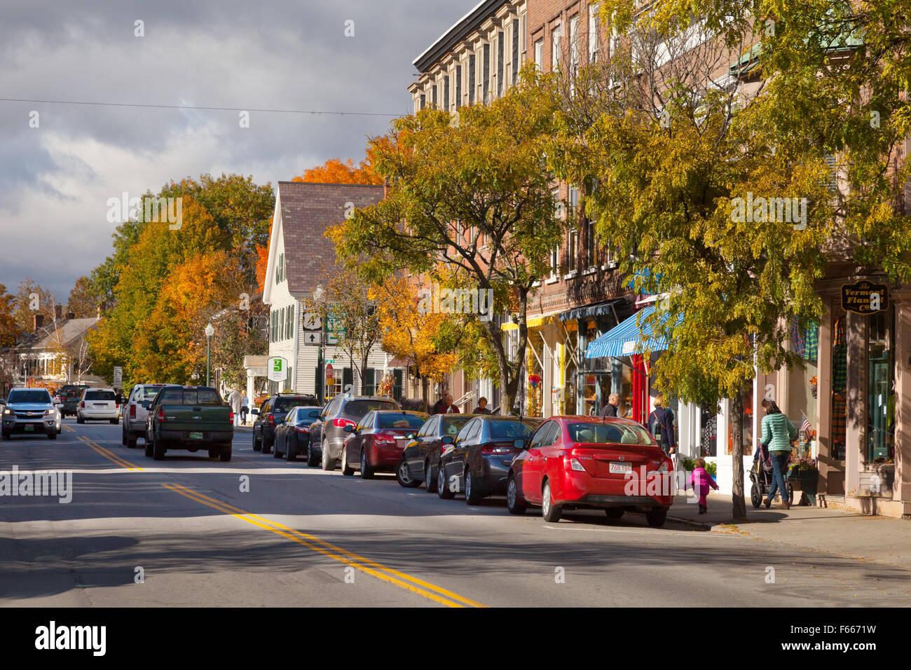 Woodstock VT Vermont EE.UU. Imagen De Stock