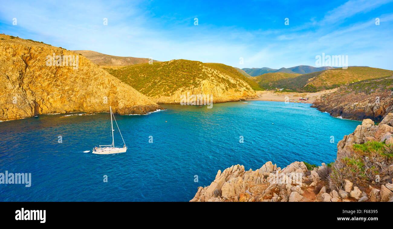 La Bahía de Cala Domestica, Buggerru, Cerdeña, Italia Imagen De Stock