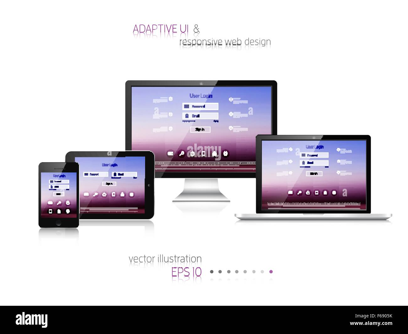 Diseño web sensible. Interfaz de usuario adaptable. Imagina Digital ...