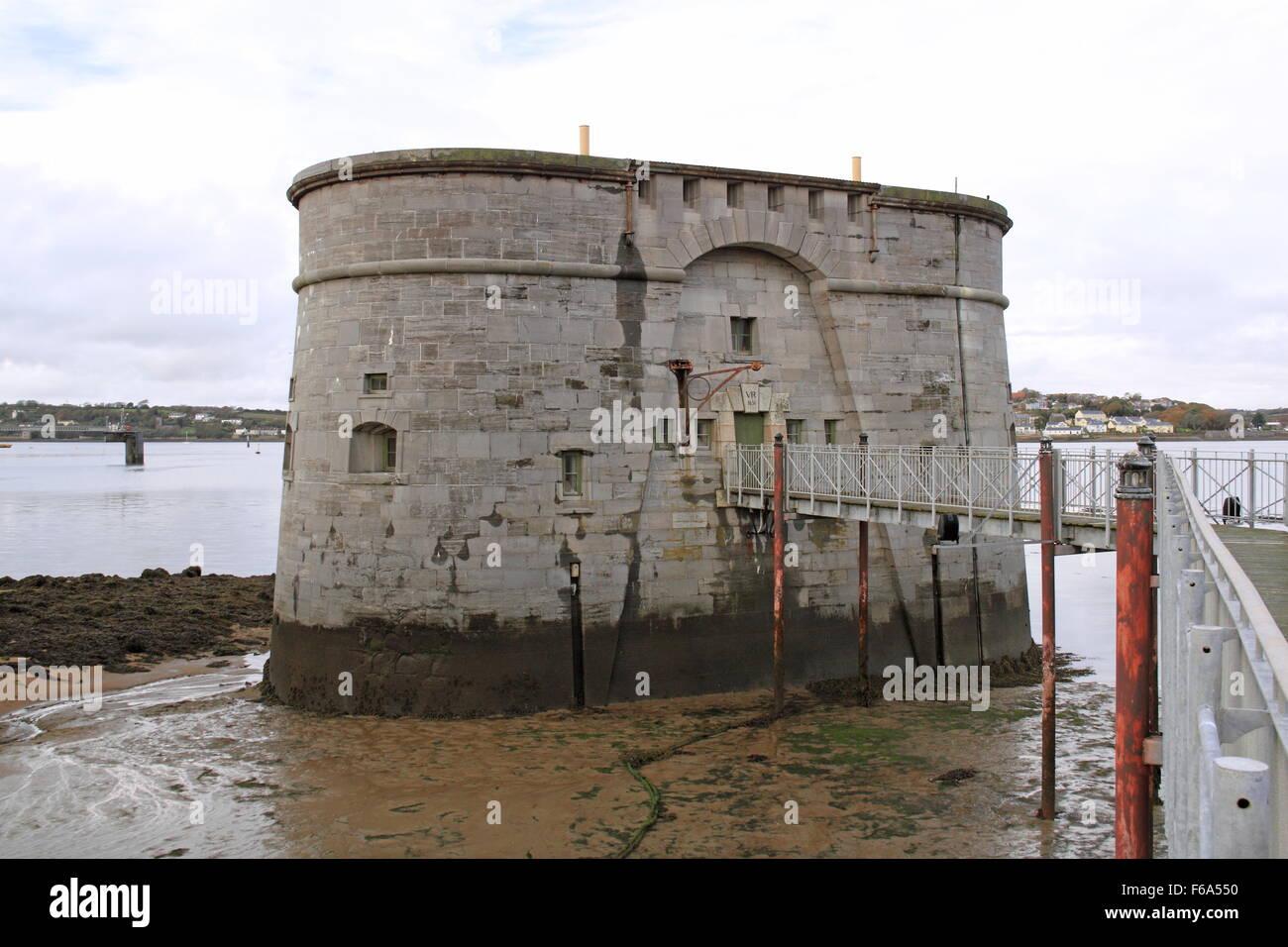 Gun Tower Museum, Royal Dockyard, Pembroke Dock, Pembrokeshire, Dyfed, Gales, Gran Bretaña, Reino Unido, Europa Foto de stock