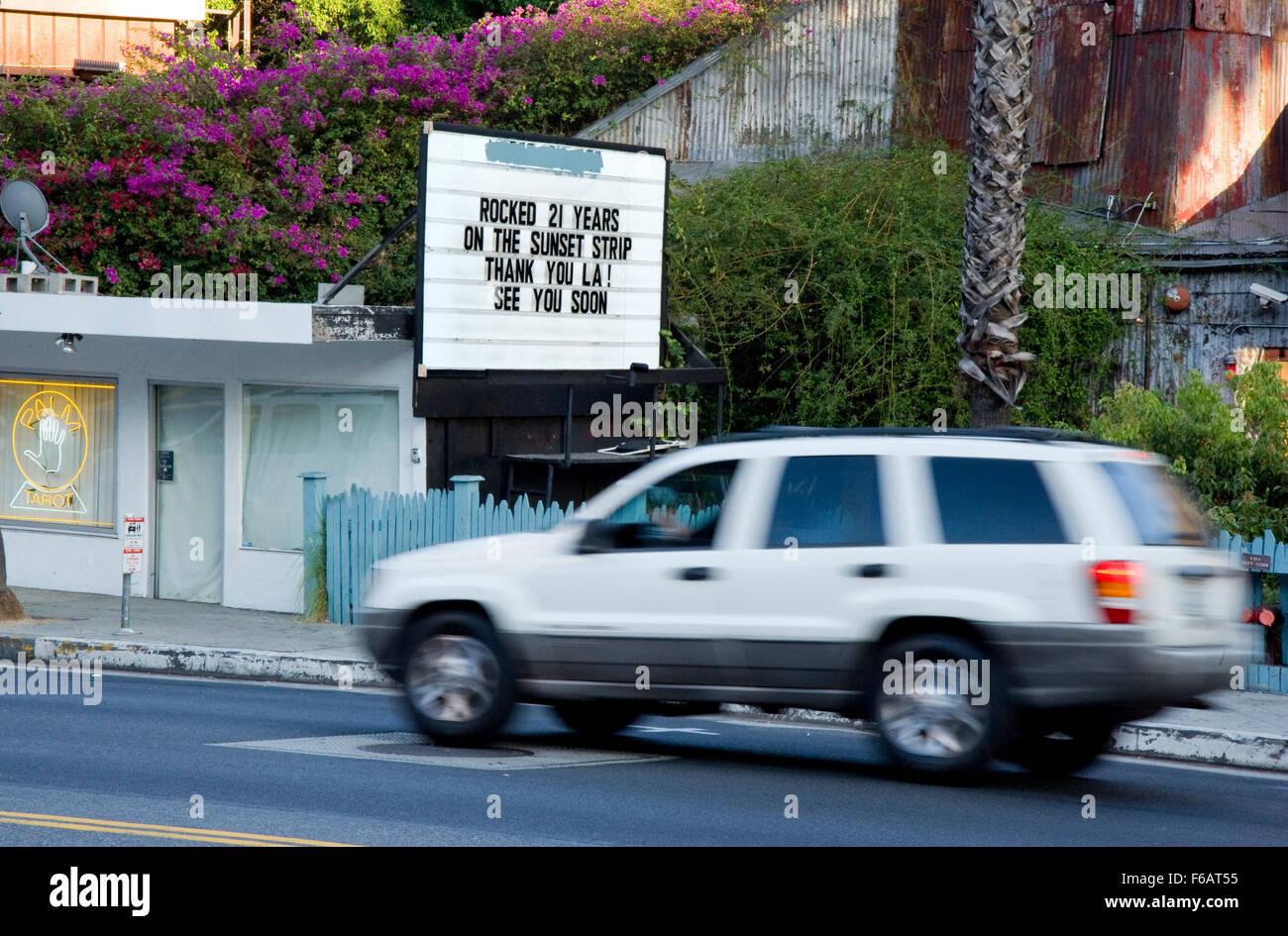 El House of Blues en Sunset Strip se cierra después de 21 años. Imagen De Stock