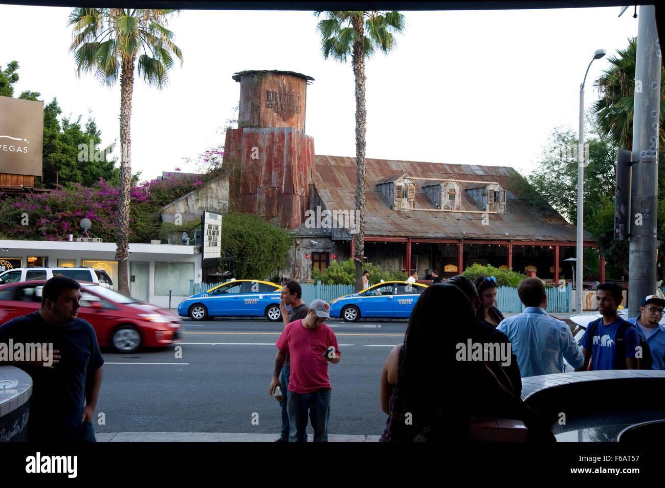 Vista de House of Blues en Sunset Strip desde el otro lado de la calle Imagen De Stock