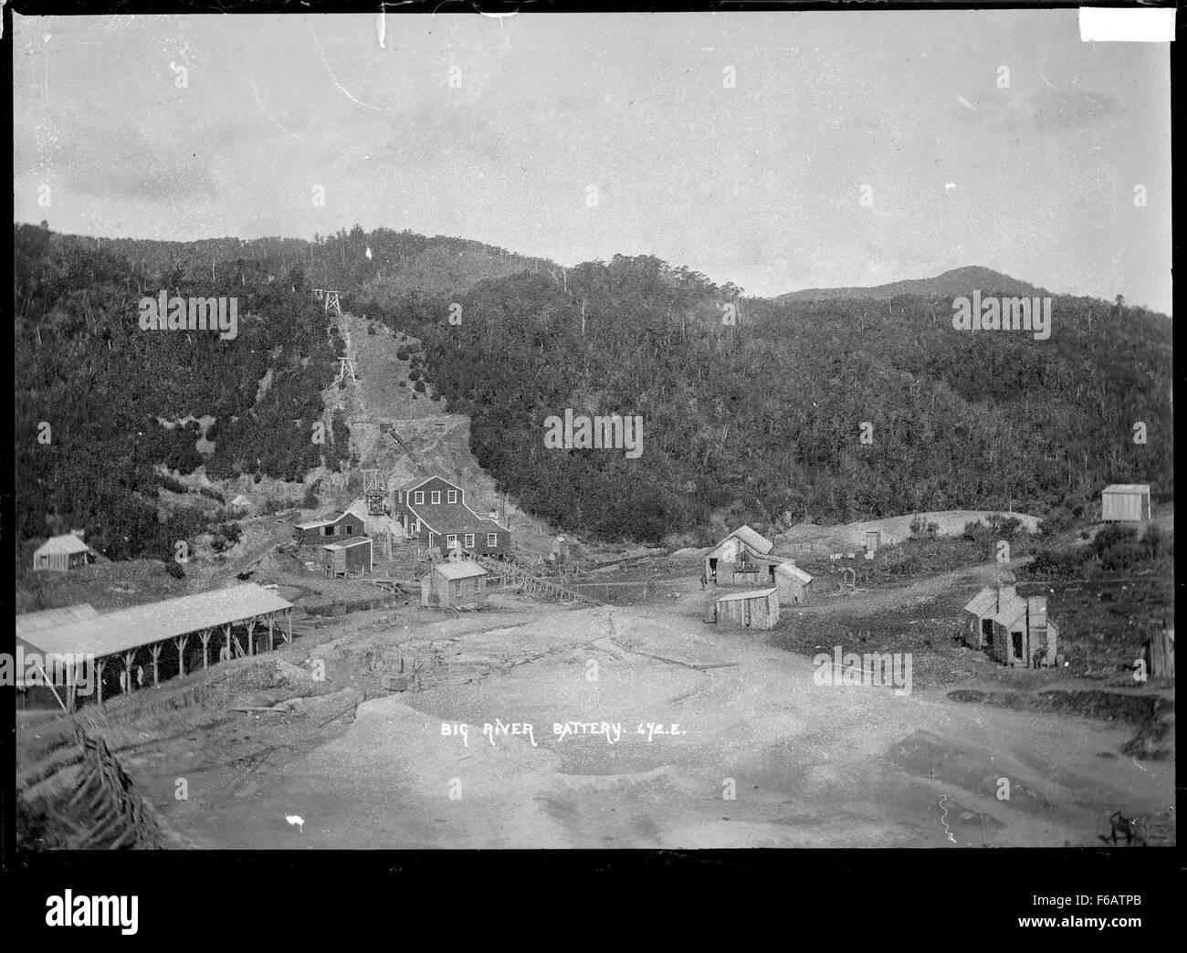 Vista del Río Grande, la batería Inangahua Co Foto de stock