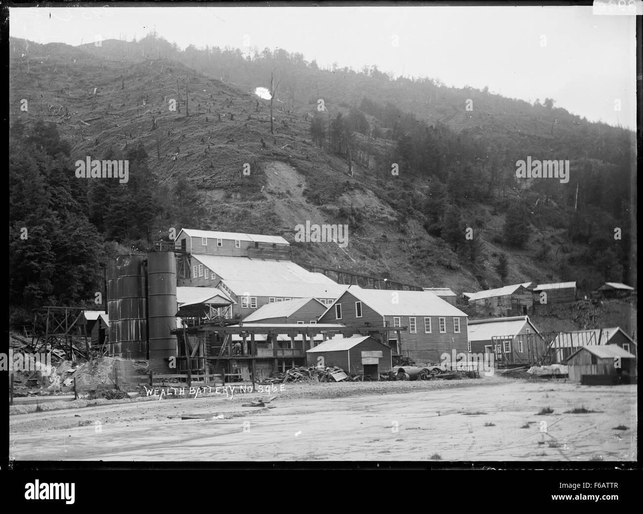 La vista de la riqueza, el condado Inangahua batería Foto de stock