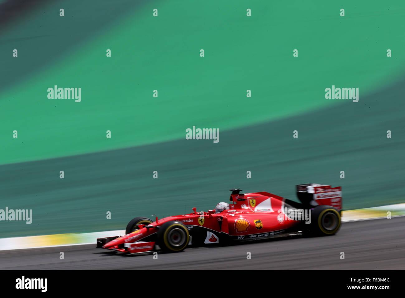 Brasil. El 15 de noviembre de 2015. Automovilismo: Campeonato del Mundo de Fórmula Uno FIA 2015, Gran Premio Imagen De Stock