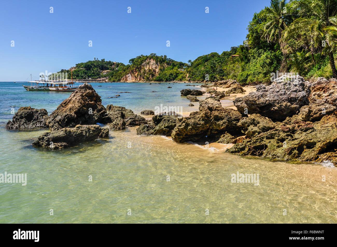 Gamboia Beach en Morro de Sao Paulo, Salvador, Brasil Imagen De Stock
